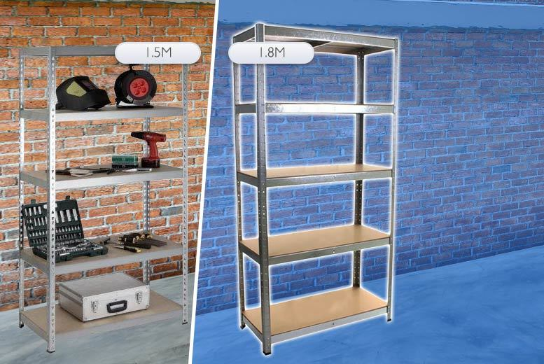 £22 instead of £77 (from EStore London) for a 1.5m metal shelving unit, £24.99 for 1.8m - save up to 71%