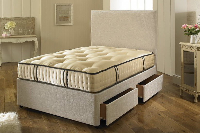 Superior 2000 Fabric Bed With Mattress & Drawer Options - 5 Sizes!
