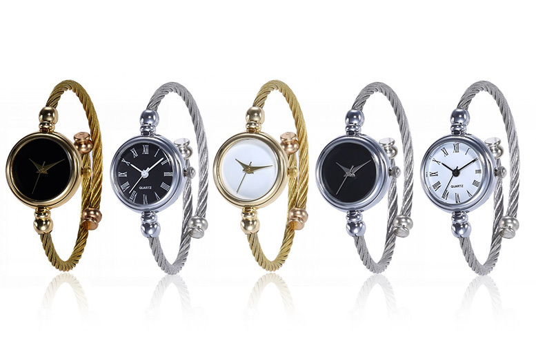 Metallic Rope Strap Watch - 5 Colours!