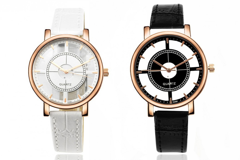 Ladies Transparent Dial Watch – 2 Colours!