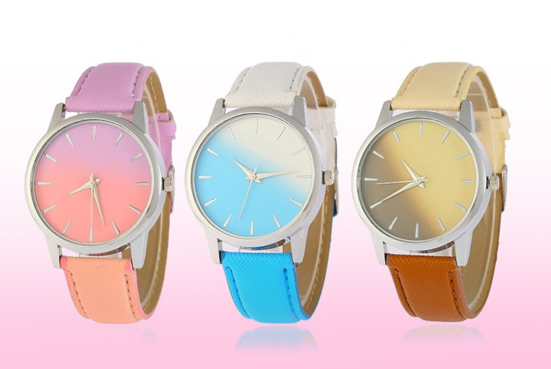 Ombre Leather Watch - 6 Colours!