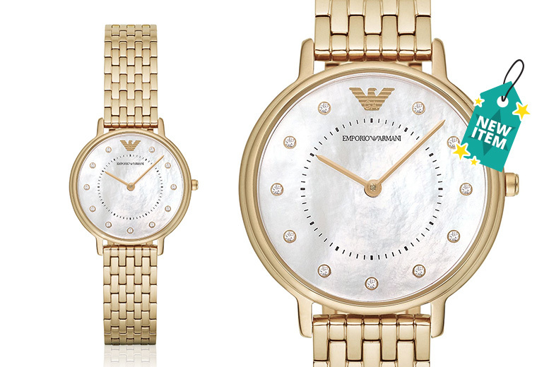 Ladies Emporio Armani Gold-Tone AR11007 Dress Watch
