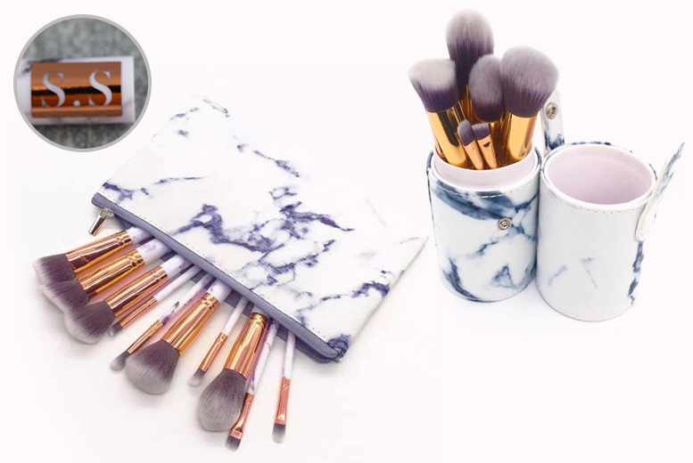 Personalised Makeup Brush Set w/ Holder - 2 Options!