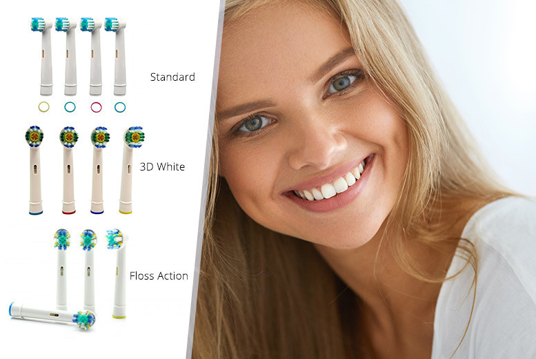 4pk Oral-B Compatible Toothbrush Heads from £2.99