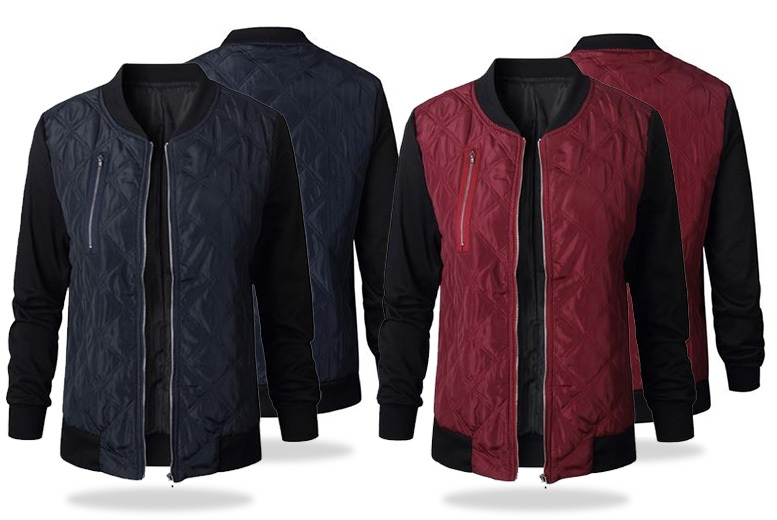 Quilted Bomber Jacket - 2 Colours & UK Sizes 8-18!