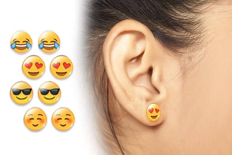 £6 instead of £39 (from India Rose Designs) for a set of four emoji earrings - save 85%