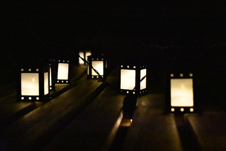 Set of 10 Moroccan Lanterns - 15m