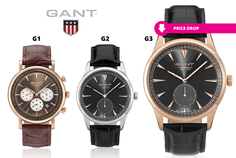 Men's GANT Leather Watches - 6 Designs!