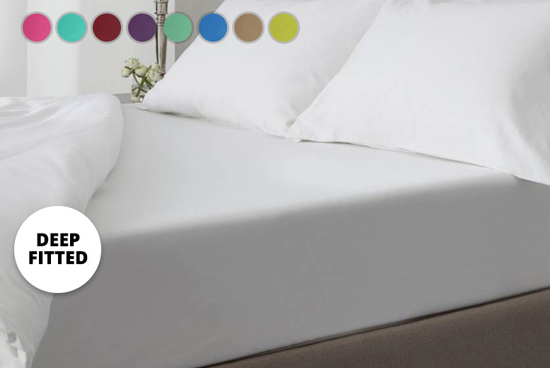 Extra Deep Percale Fitted Sheet – 18 Colours & 4 Sizes!