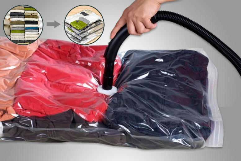 2, 4 or 6 Vacuum Storage Bags