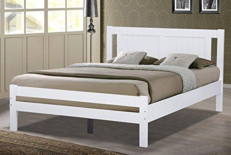 Glory Wooden Slatted Bed with optional mattress – 3 sizes!
