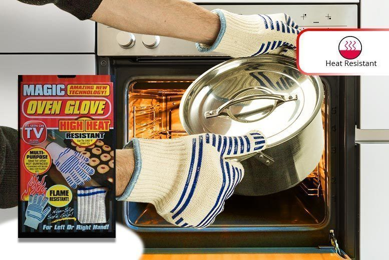 A Pair of Magic Heat Resistant Oven Gloves