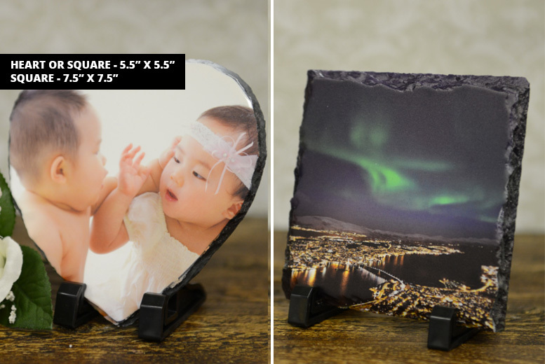 Personalised Photo Slate – 4 Designs! from £9