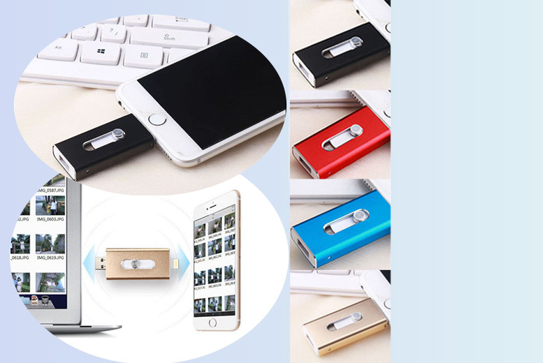 £9.99 (from EFMall) for an 8GB USB lightning iFlash phone drive, £12.99 for 16GB, £14.99 for 32GB, £16.99 for 64GB or £19.99 for 128GB - save up to 80%