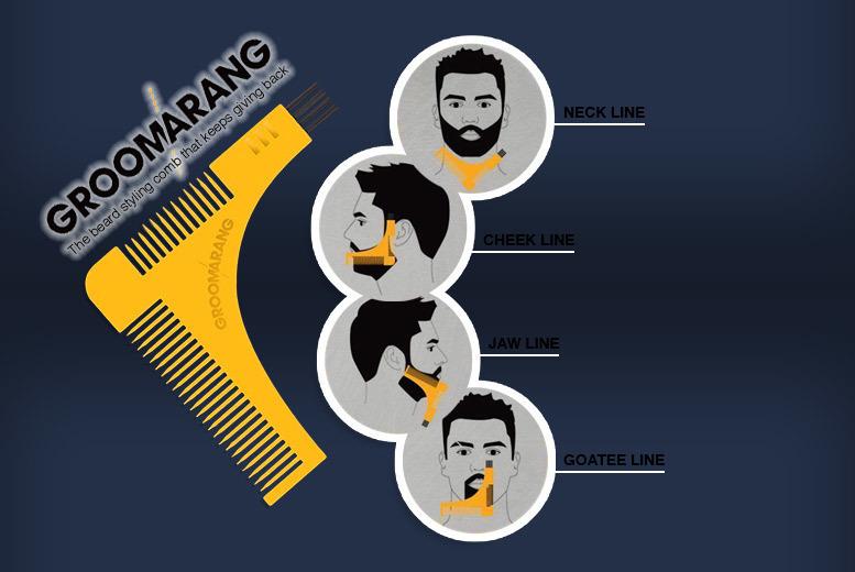 Beard Shaping and Styling Comb
