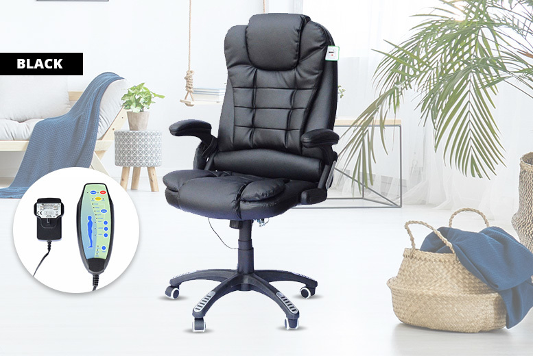 PU Leather Massaging Swivel Chair – 4 Colours! for £89