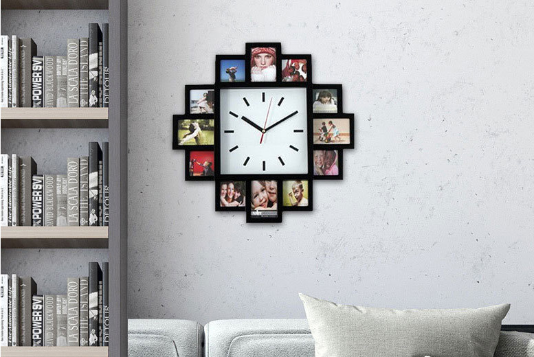 12 Multi Aperture Photo Frame Clock