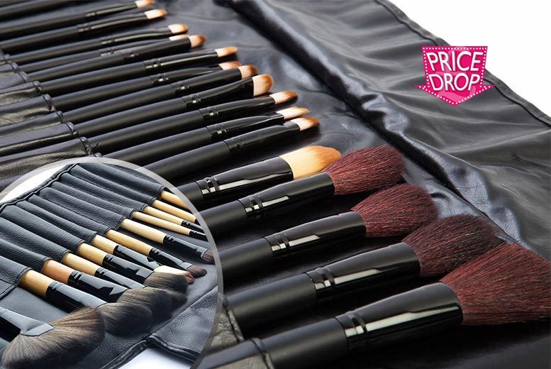 £12 instead of £59.99 (from Shopperheads) for a 32-piece makeup brush set - brush up and save 80%
