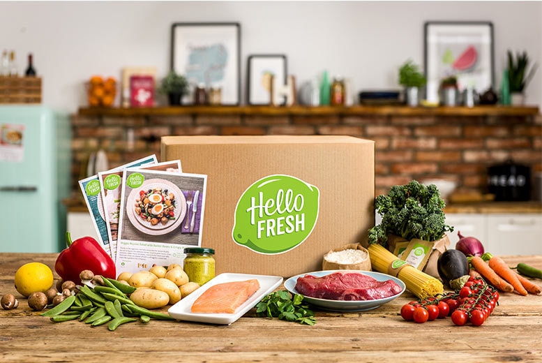 From £13 for your first box of your HelloFresh subscription with recipes and ingredients for 2 or 4 people from HelloFresh - choose from 'veggie' or 'meat and fish' and save up to 64%