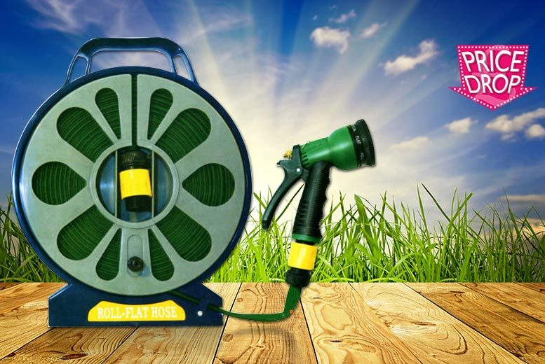 £5.98 instead of £39.99 (from Ansell Garden Centre) for a 50ft garden flat hose and spray nozzle - save 85%