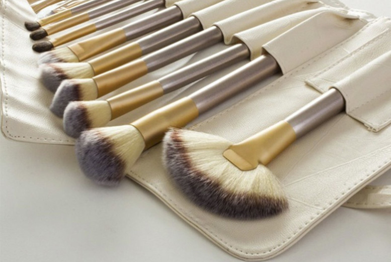 12pc Champagne Makeup Brush Set