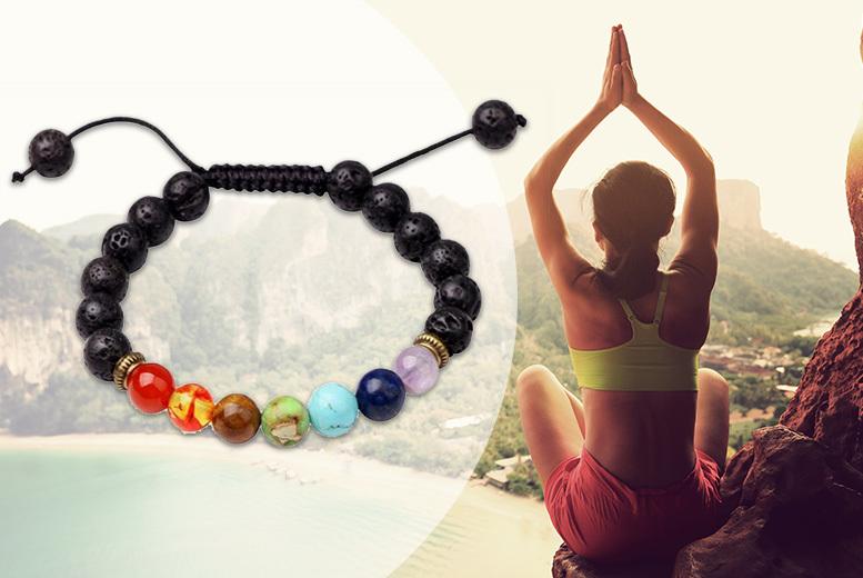 Lava Stone Chakra Bracelet - 2 Sizes!