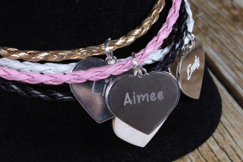 Personalised Engraved Friendship Bracelet - 5 Colours!