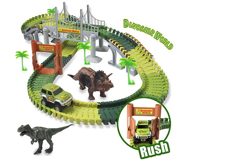 Create-a-Track Dino World Track Play Set