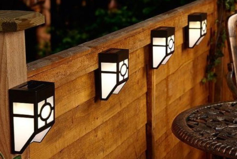 Solar Fence Lights - 2, 4 or 6!