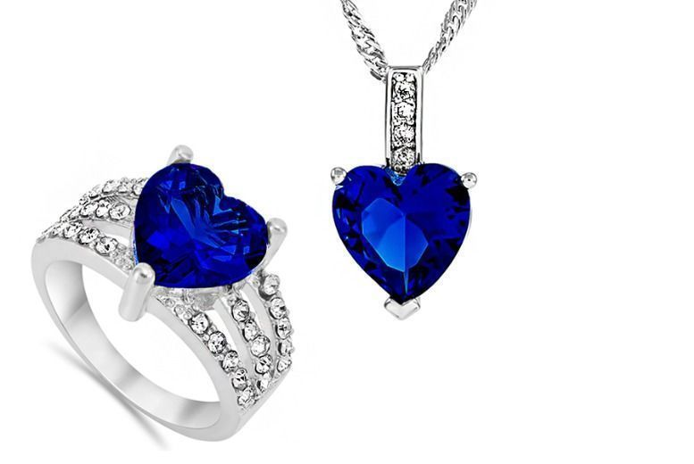 Royal Blue Ring & Pendant Set