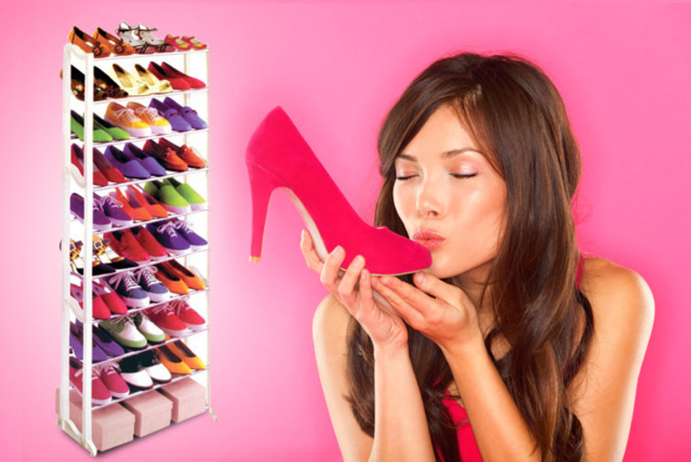 21 Pair Shoe Rack