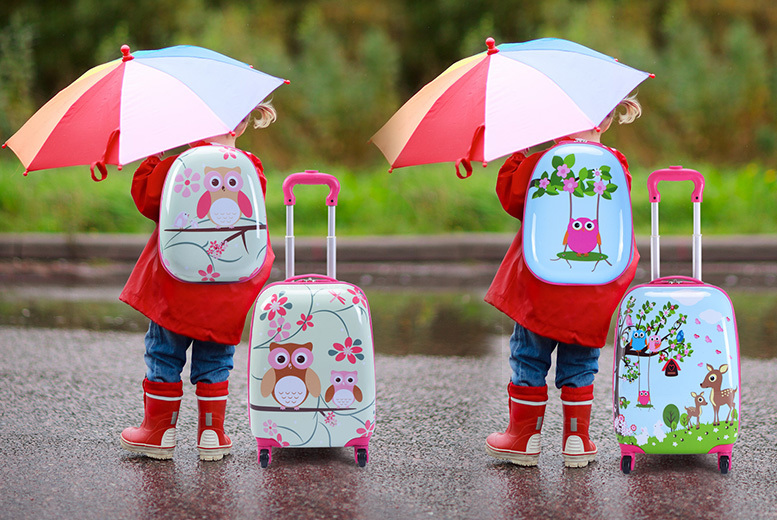 2pc Kids' School Luggage Set - 2 Designs!