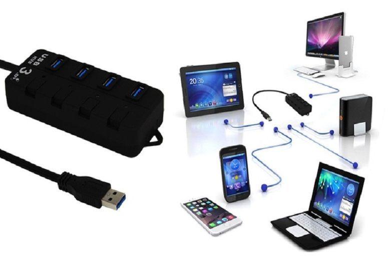 4 Port Switched USB Hub