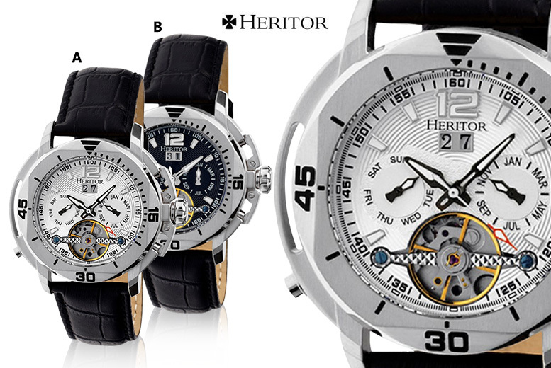 Heritor Luxury  Automatic 'Lennon' Watch - 6 Designs!