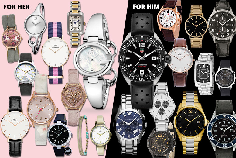 Mystery Watch Deal - Tag Heuer, Gucci, Hugo Boss, CK & More!