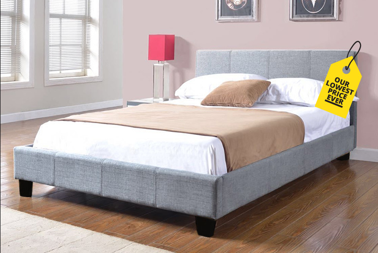 Double Fabric Bed with Optional Memory Spring Mattress!