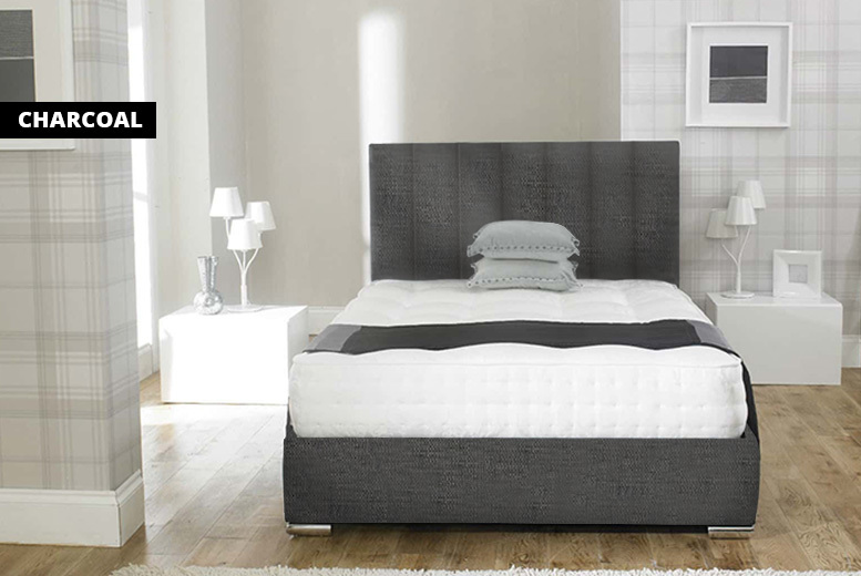 Rome Linen Fabric Upholstered Bed - 1 year warranty!