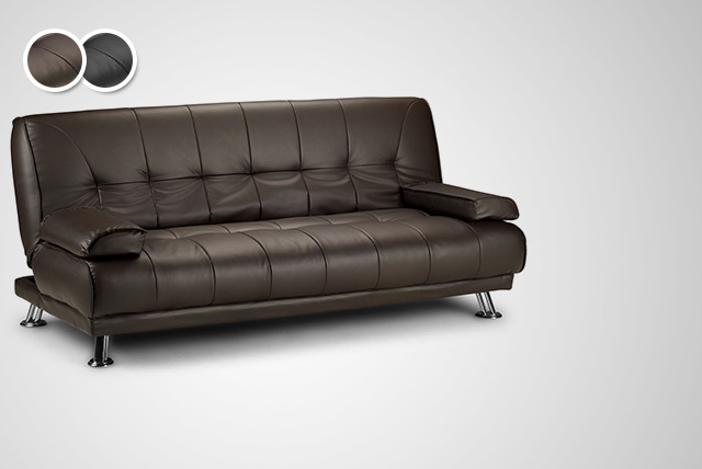 Sofa Beds Deals : Sofa Bed £149 instead of £375 for a Venice faux-leather sofa bed ...