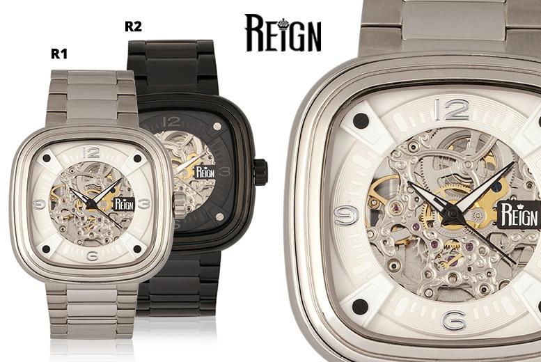Men's Luxury Automatic Reign 'Nero' Watch - 6 Designs!