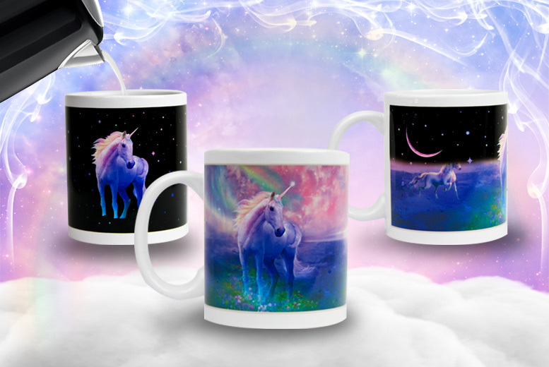 Heat-Sensitive Magical Unicorn Rainbow Mug - 1 or 2!