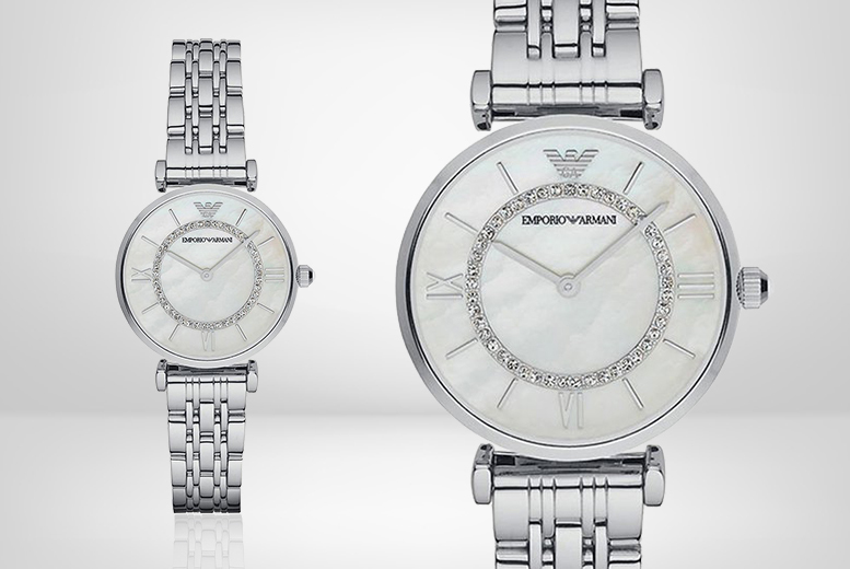 Ladies Emporio Armani AR1908 Silver-Tone Watch