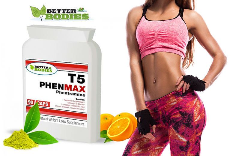 1, 2 or 3mnth* Phenmax T5 'Fat Burners' from £5.99