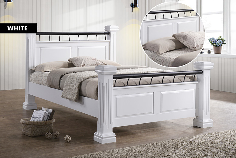 Chunky Wooden Rolo Bed - 2 Colours & 2 Sizes!
