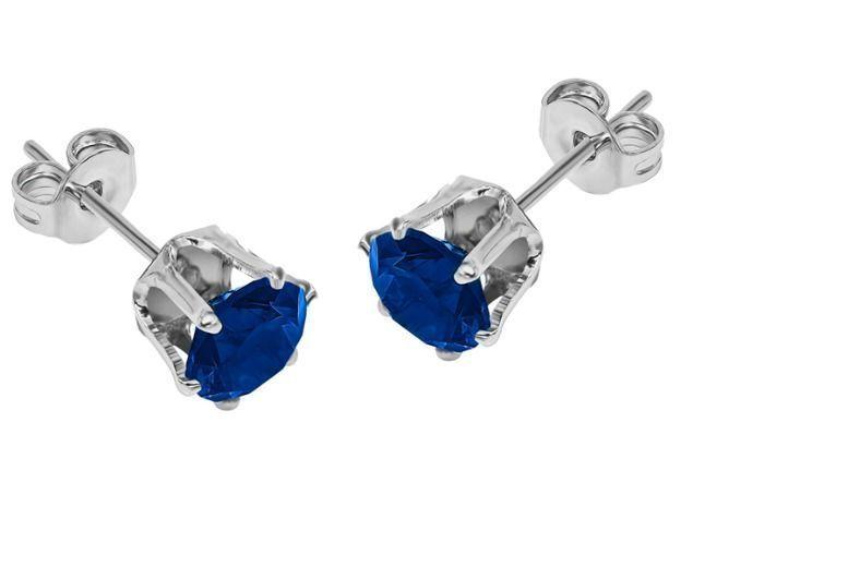 Royal Blue Crystal Stud Earrings