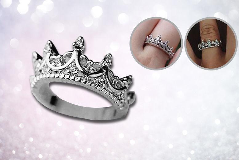 Crown Ring - Sizes J-R!
