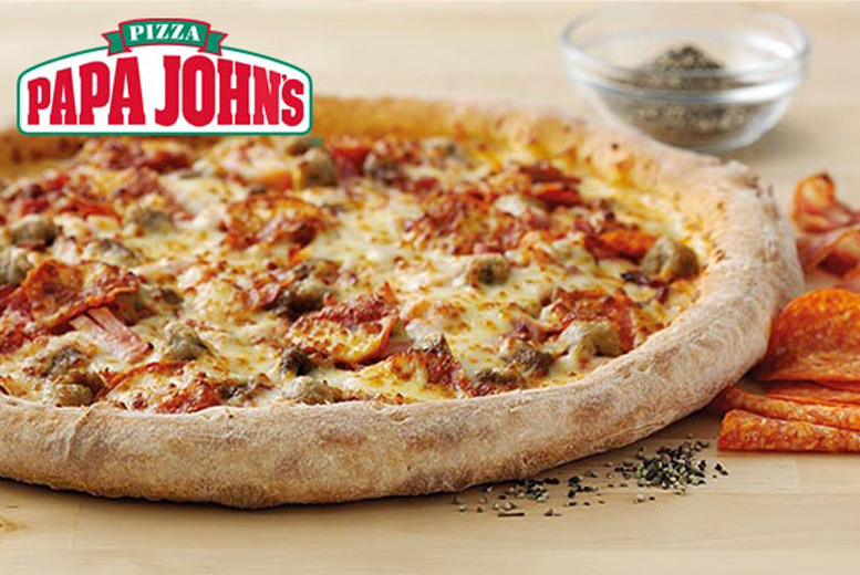 Papa John's Pizza with 2 Toppings - Small, Medium, Large or XXL!