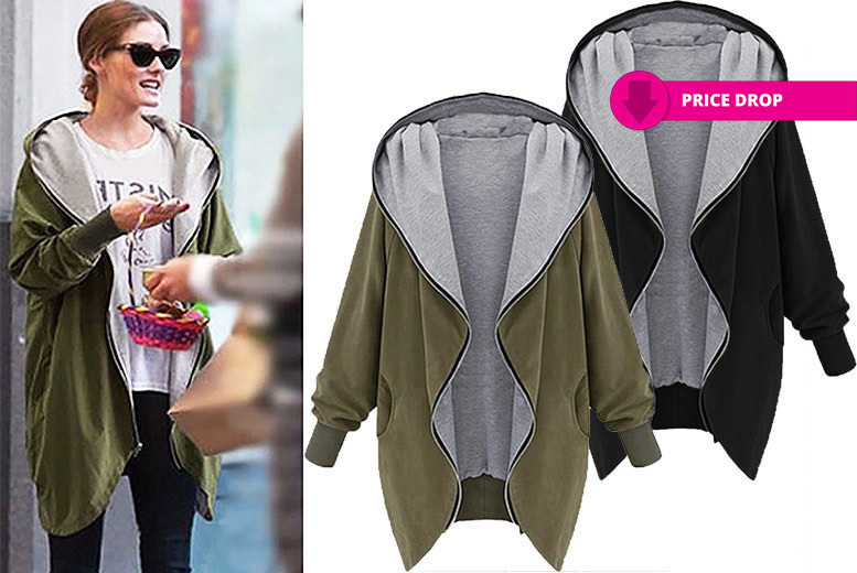 Long Sleeved Hooded Jacket- 2 Colours & UK Sizes 6-12! for £14
