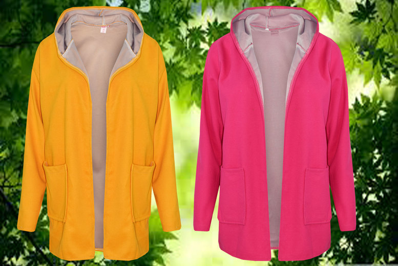 Women's Hooded Fleece Jacket - 2 Colours & UK Sizes 6-14!