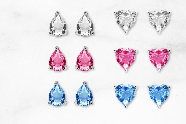 3 Pairs of Earrings Made with Crystals From Swarovski® – 2 Styles! for £9