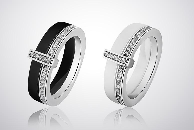 Crystal & Ceramic Ring for £10